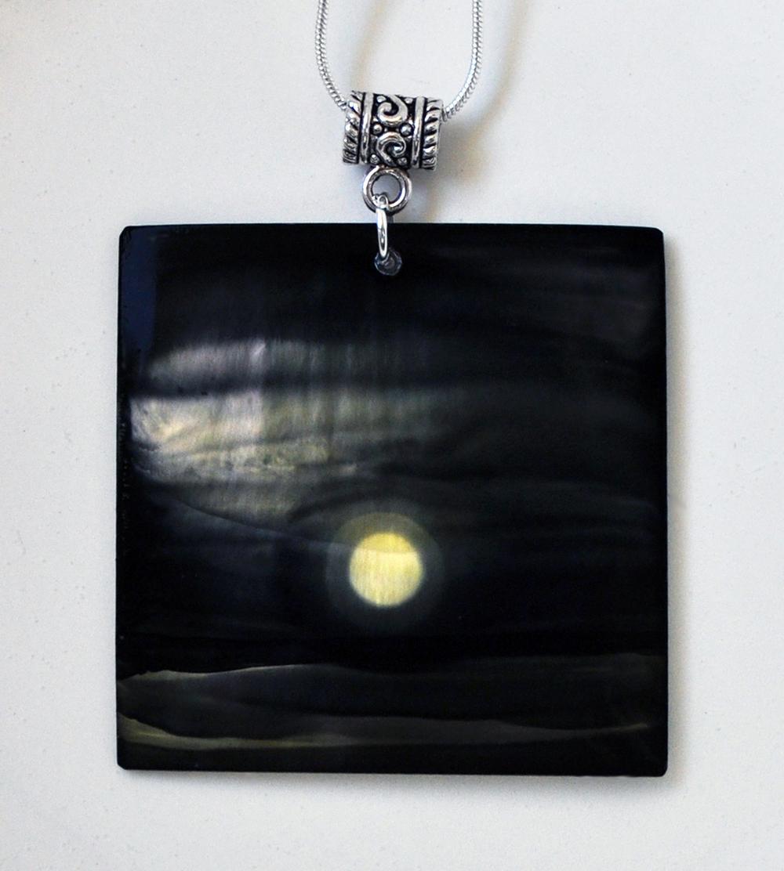 Pearl Moon Square Pendant