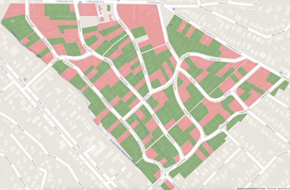 The Tamalpais Park Neighborhood Map.