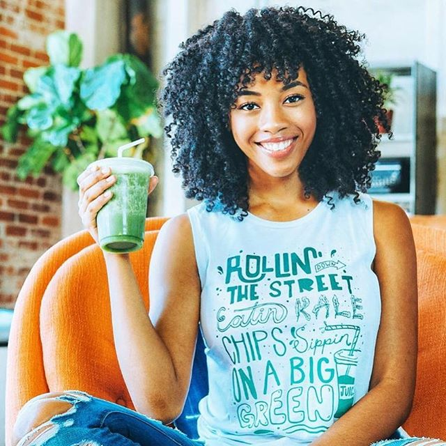 This has to be the best shirt yet!! And, of course we 💚 @veganwithjoi! Now we just need a little GREEN juice, and we are ready to roll. #wakeandjuice #highonlife