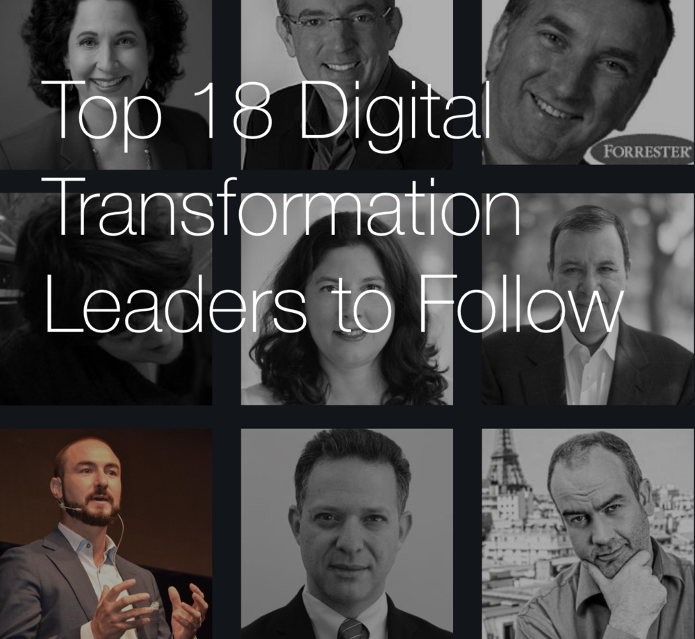I was recognized by Vice and HPE as one of the Top18 Digital World Leaders to follow.