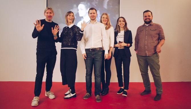 The team behind the event: Matthew Drinkwater, Lisa Chatterton (both FIA), Stefan Hauswiesner (CEO), Katri Salminen (FIA), Sabinna Rachimova (Founder, SABINNA), Stefan Adelmann (CMO)– Photo: Emmi Hyyppä