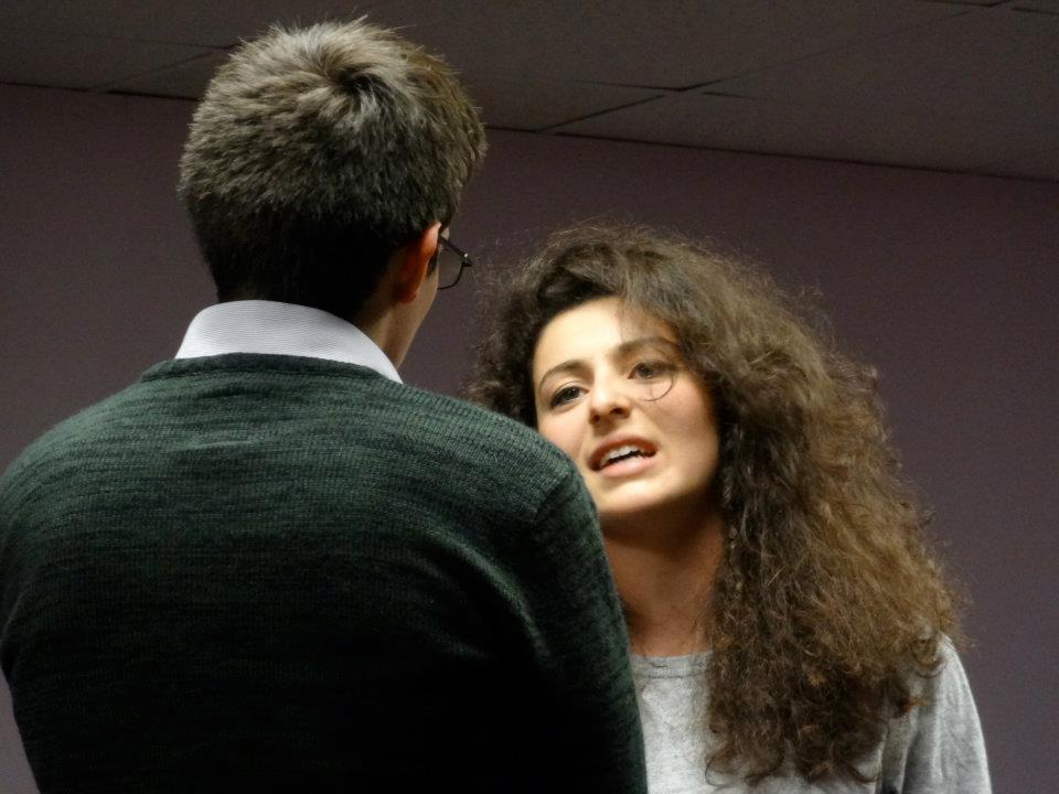 """Proof""  (2012 Edinburgh Fringe Festival) Directed by John-Michael Sequeira and Lindsay Carpenter  Catherine (Melis Aker)"