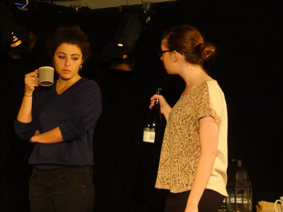 """Proof""  (2012 Edinburgh Fringe Festival) Directed by John-Michael Sequeira and Lindsay Carpenter  Catherine (Melis Aker) and Claire (Kira Patterson)"