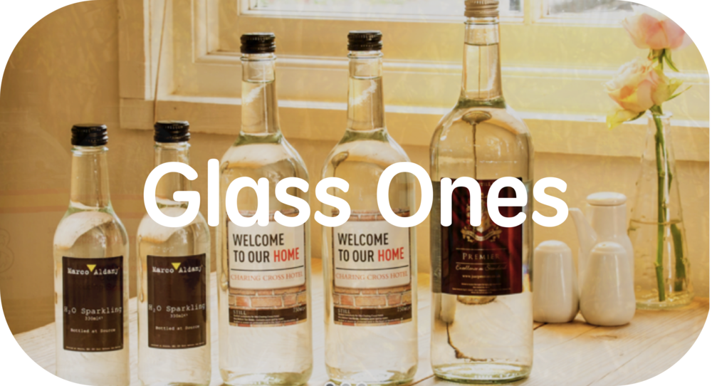 Check out our glass bottles, they are awesome