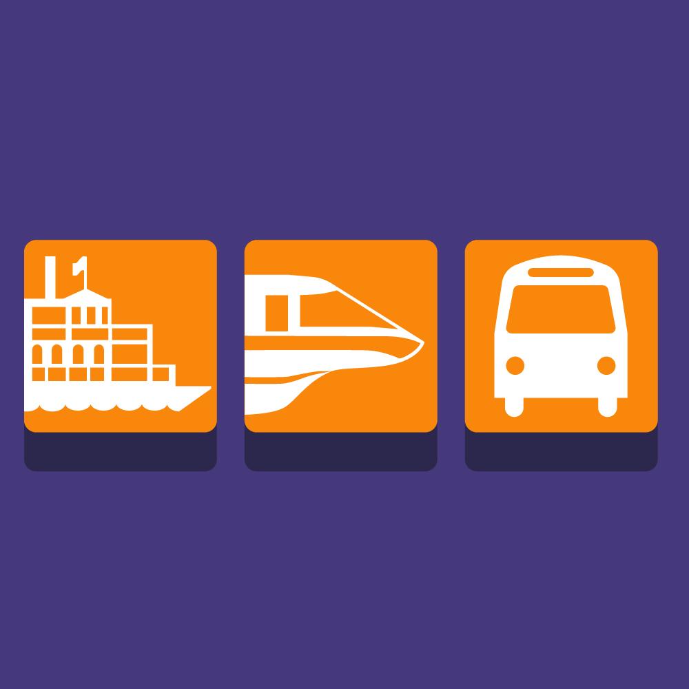 Transportation & Ticket Center Icons