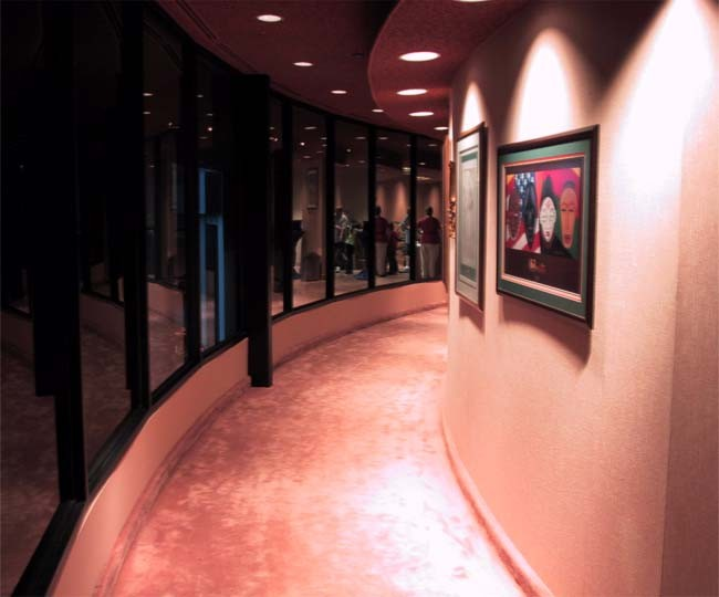 One of the curved walkways to the seating area. Photo: WDWMagic