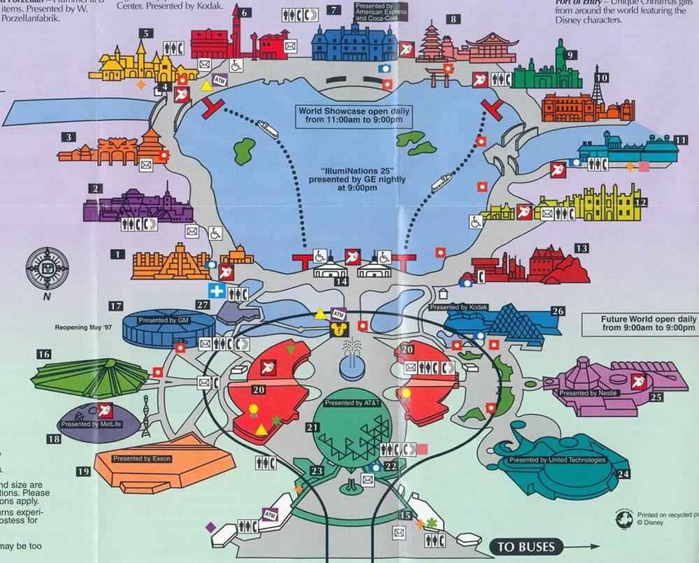 1997 EPCOT Map
