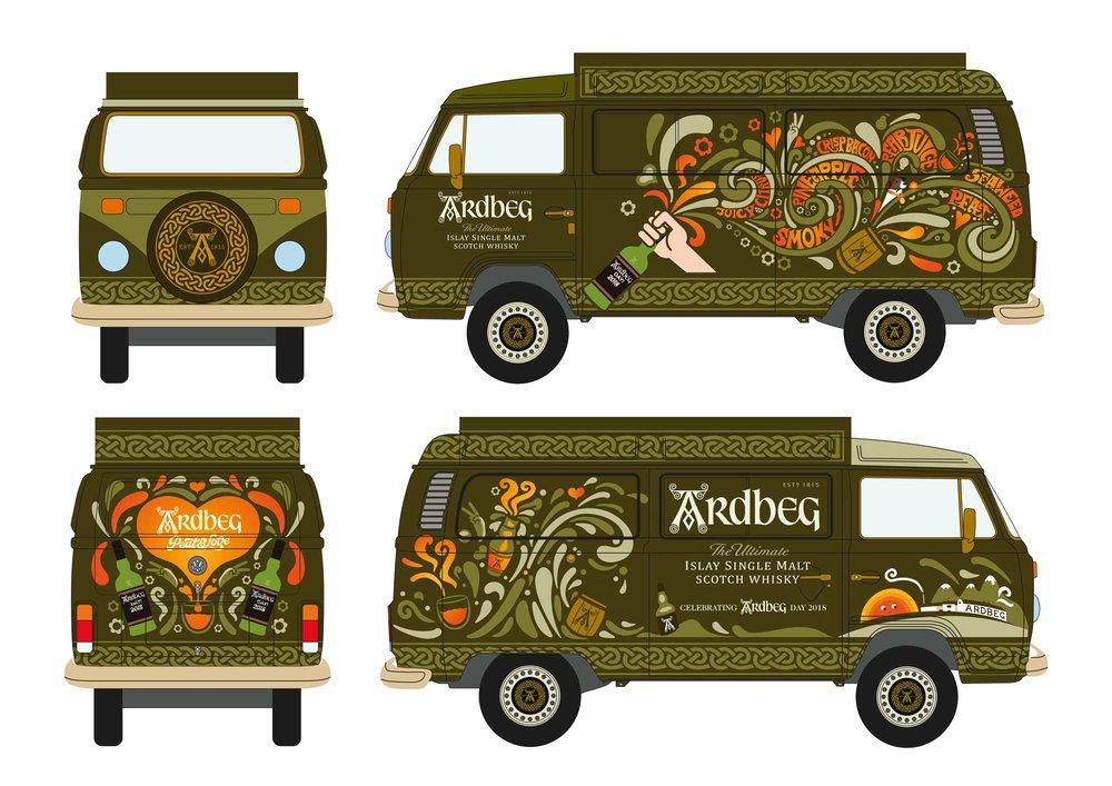 Concept for the Ardbeg VW Van