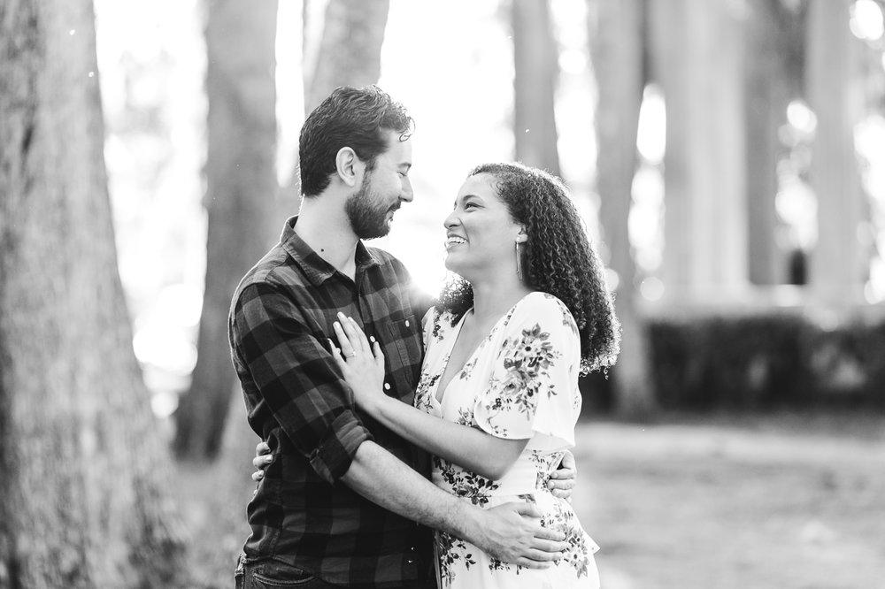 engagement photo at kraft azalea gardens