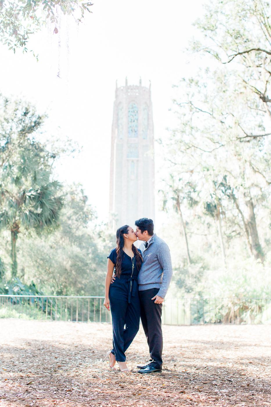 engagement photos at bok tower