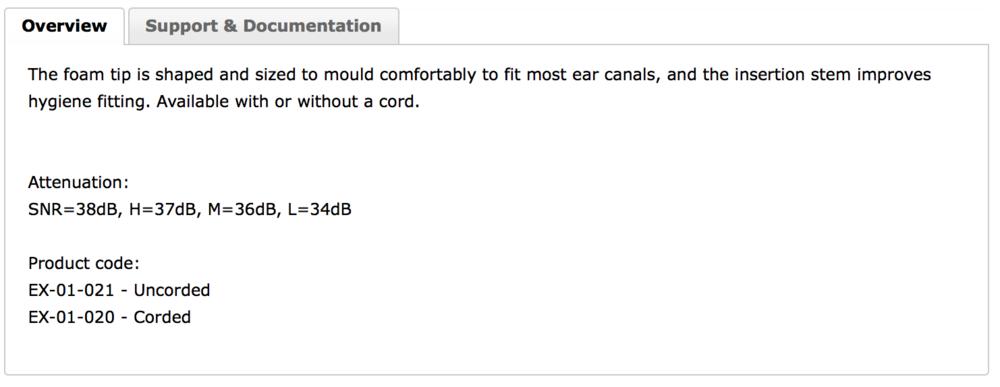 EAR Push-In Data
