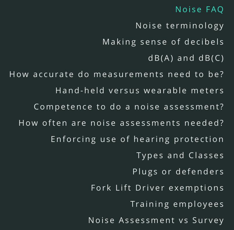 Noise FAQ