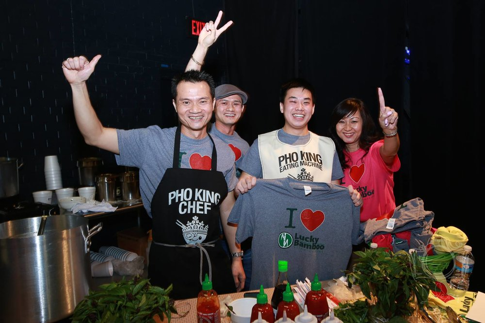 The Lucky Bamboo crew with the Pho King Eating Contest winner!