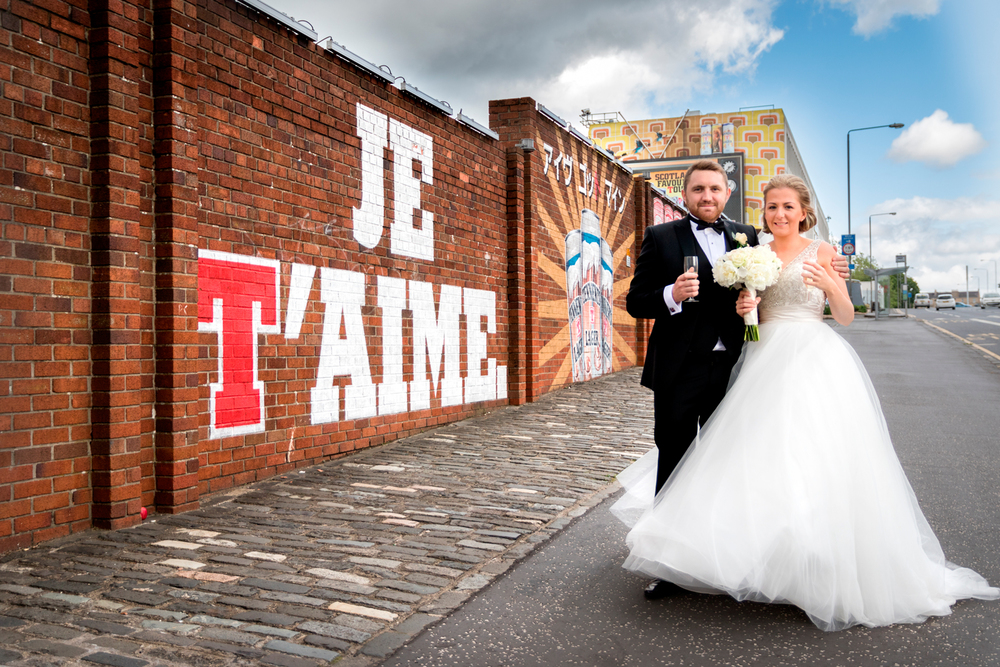 Mr and Mrs Campbell, Tennents wall, Glasgow
