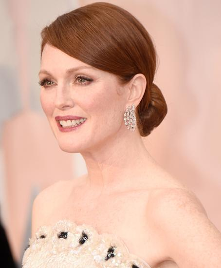 Low-key upstyles: Julianne Moore