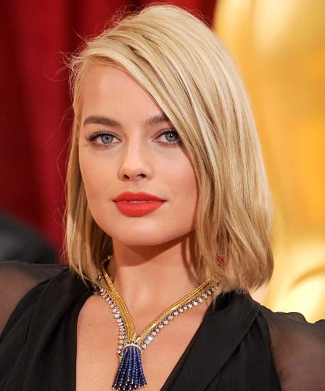 Smoothed, shorter styles: Margot Robbie