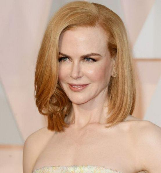 Smoothed, shorter styles: Nicole Kidman