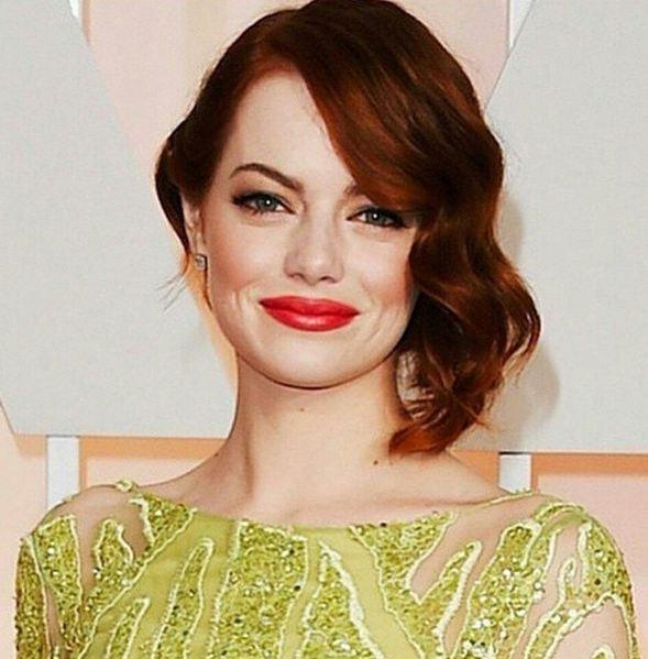 Red lips: Emma Stone
