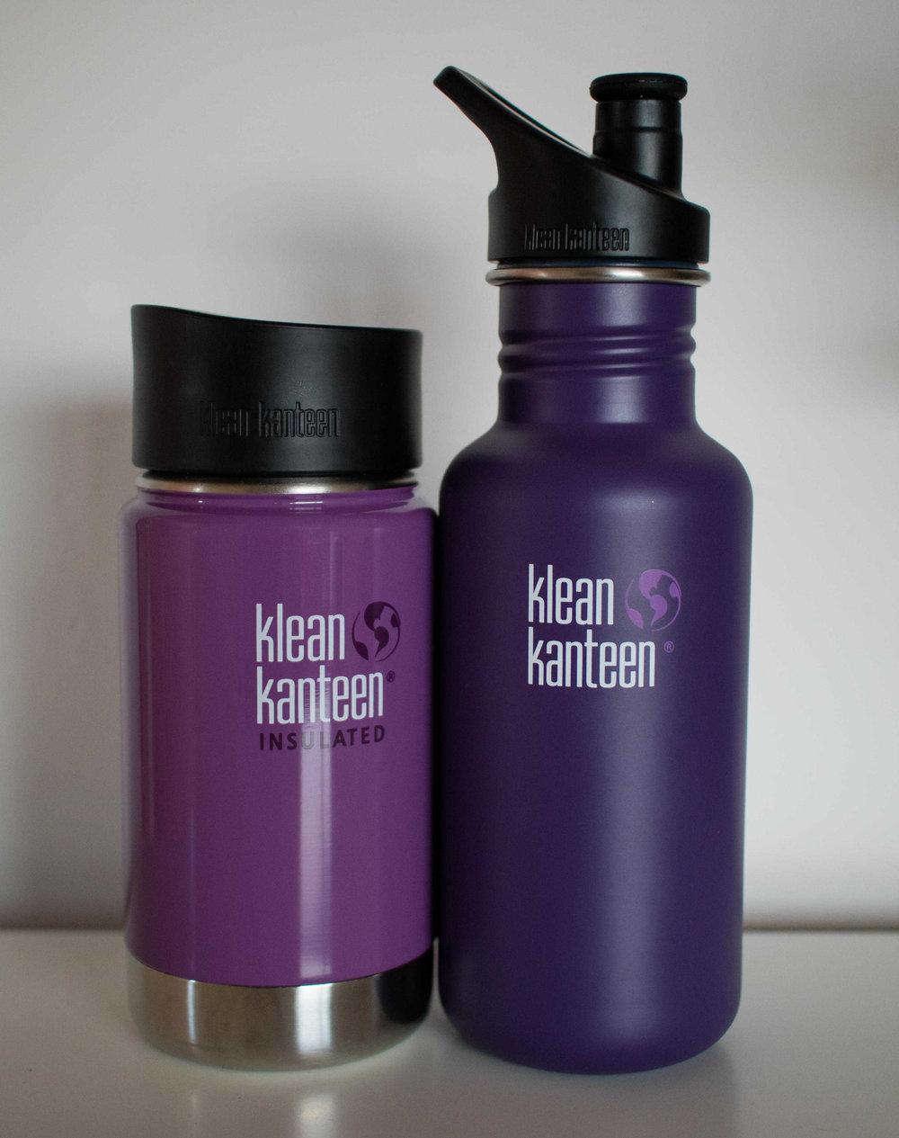 My two Klean Kanteens!