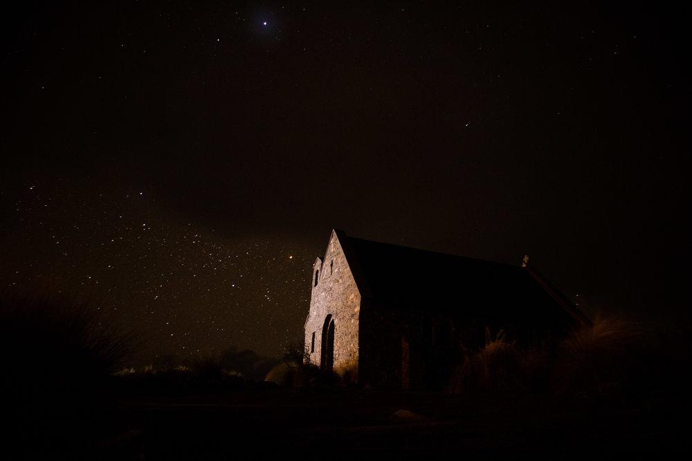Some stars at Lake Tekapo, but nowhere near as many!