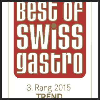 November 2014, Best of swiss gastro award    3.Rang Trend