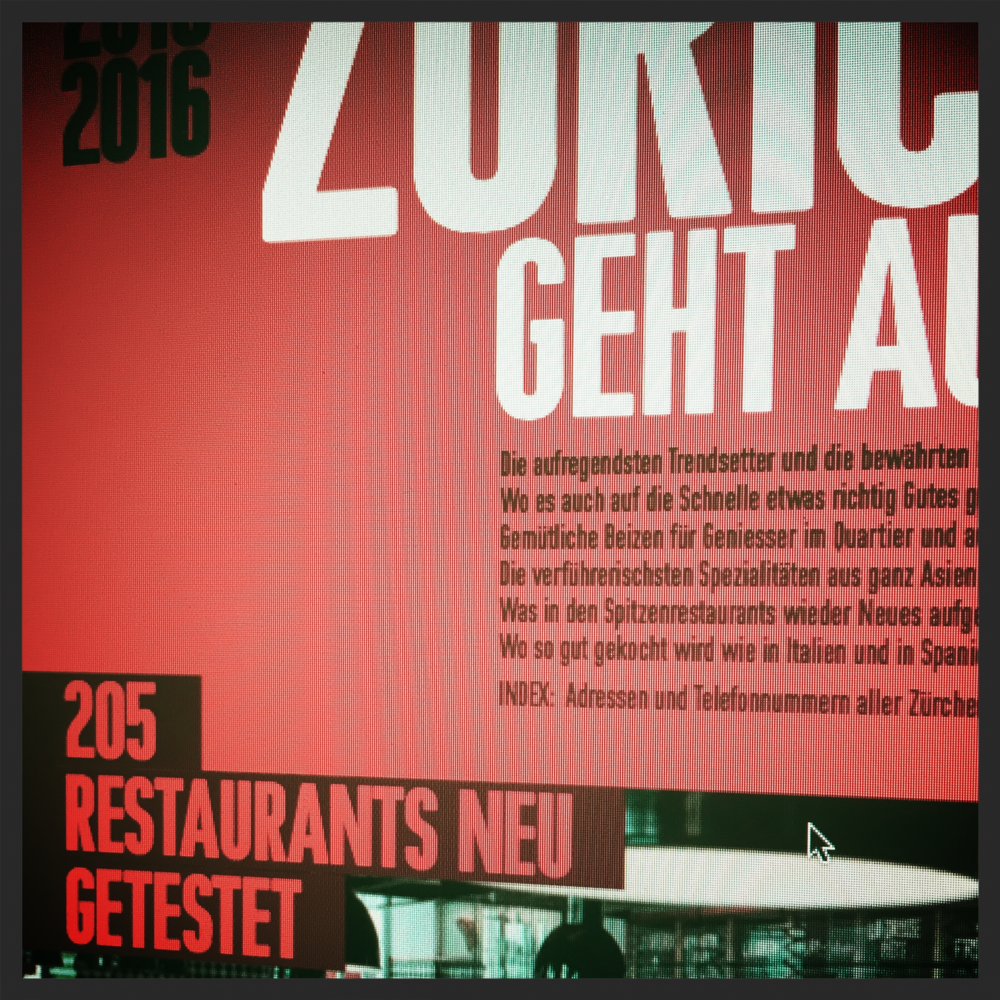 Juli 2015, Zürich Geht Aus!   Kreative Küchenkunst,die Spass macht
