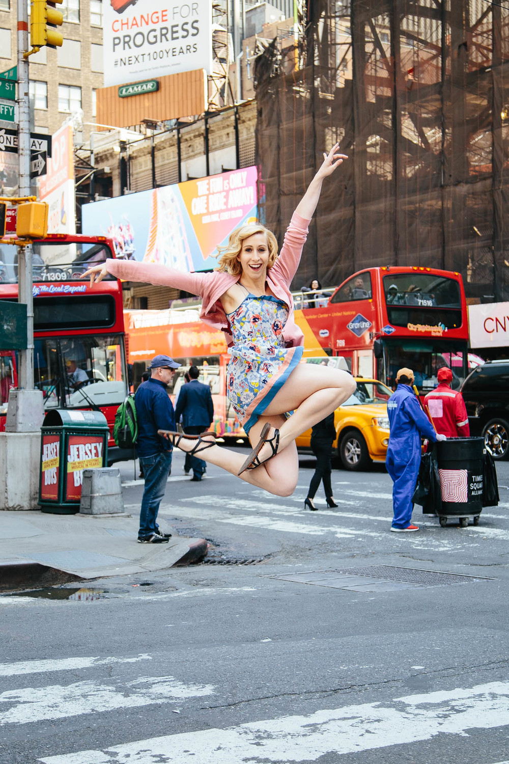 """Sometimes I think to myself that I am crazy for living near [Time Square]."""