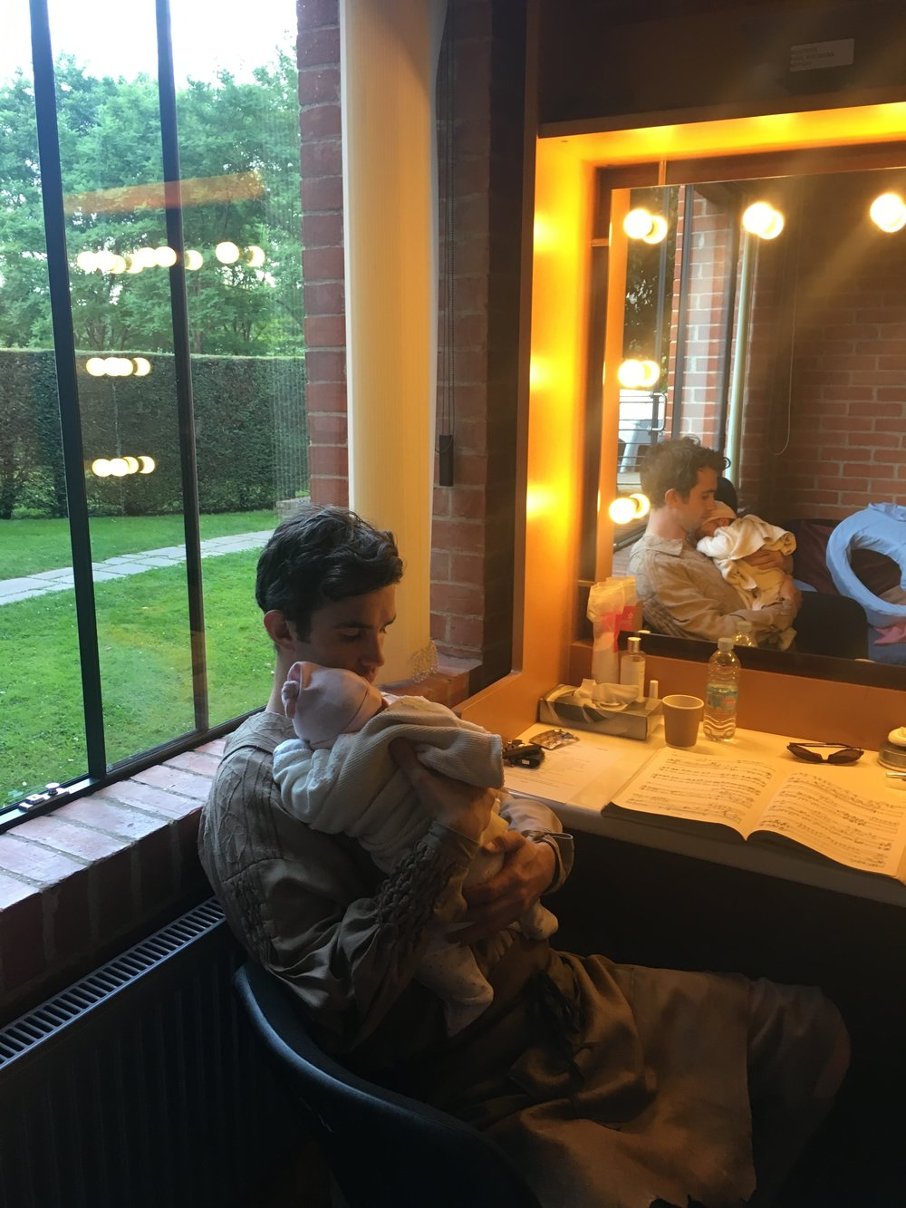 Lulu sharing Daddy's dressing room at Glyndebourne