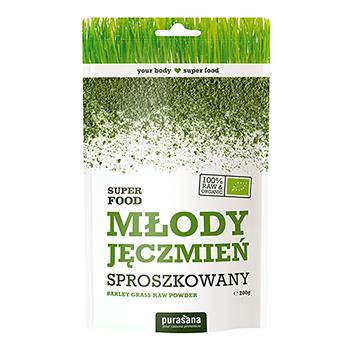 MŁODY JĘCZMIEŃ: Proszek z trawy jęczmienia pozyskuje się ze młodych pędów jęczmienia, które w tej fazie rozwoju zawierają najwięcej makro i mikro składników odżywczych. WIĘCEJ INFORMACJI >>