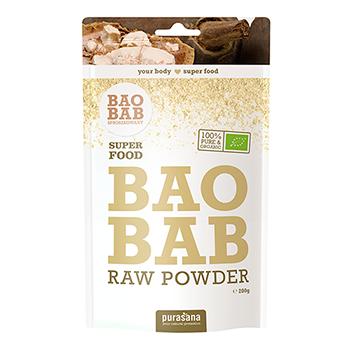 BAOBAB SPROSZKOWANY: Owoce Baobabu zawierają bardzo dużo witaminy C oraz błonnika. Są tez bogatym źródłem składników mineralnych, w szczególności wapnia, potasu, magnezu i żelaza. WIĘCEJ INFORMACJI >>