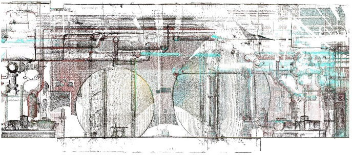 Section through point cloud