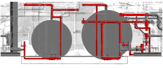 Existing Pipes over Point Cloud Data
