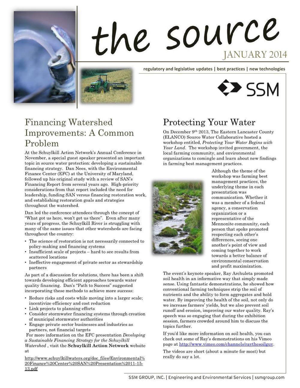 SourceWaterProtection news January 2014
