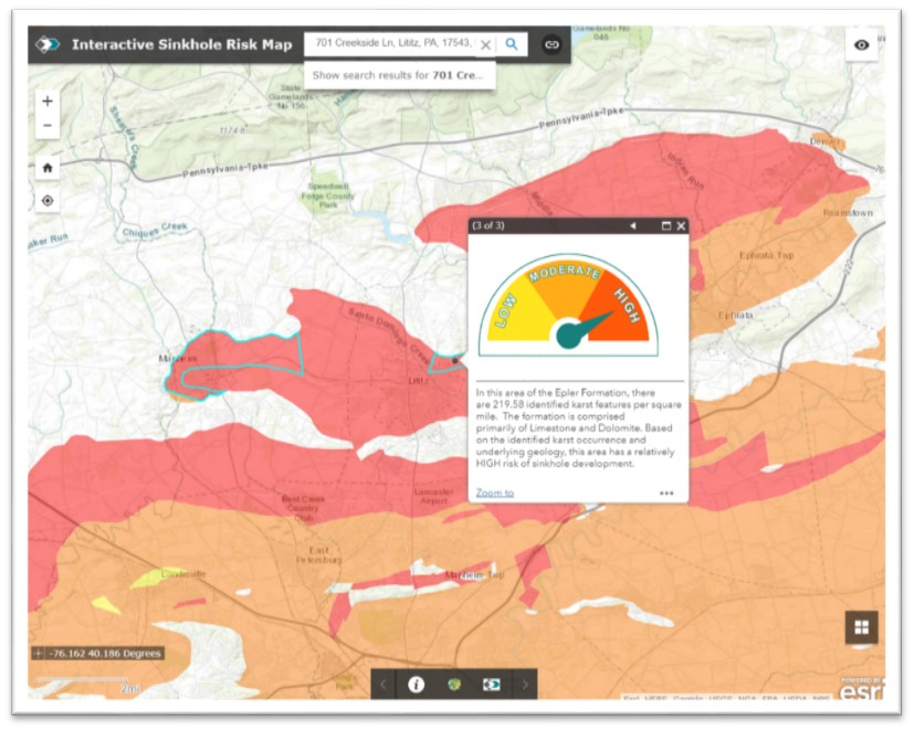 Explore the Interactive Sinkhole Risk Map