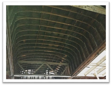 The roof is original to the building and dates to the late 1800s, when steel was just becoming a common material for roof construction.