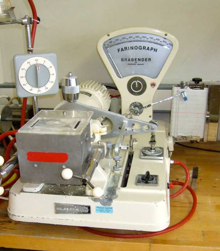 A mechanical farinograph
