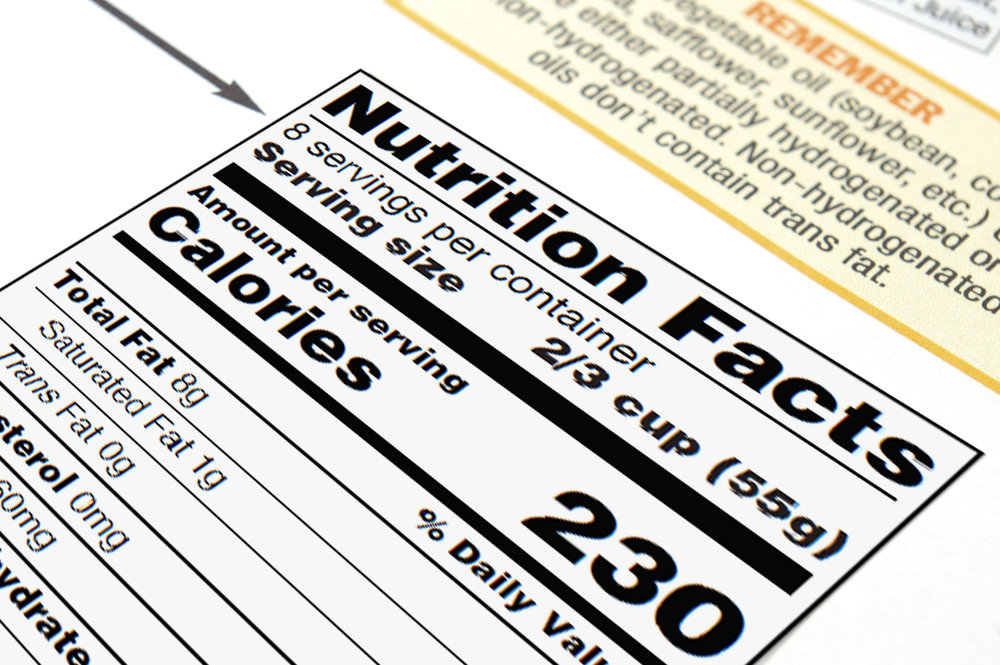 Using the information from a Nutrition Facts Report, we can provide a print ready graphic.