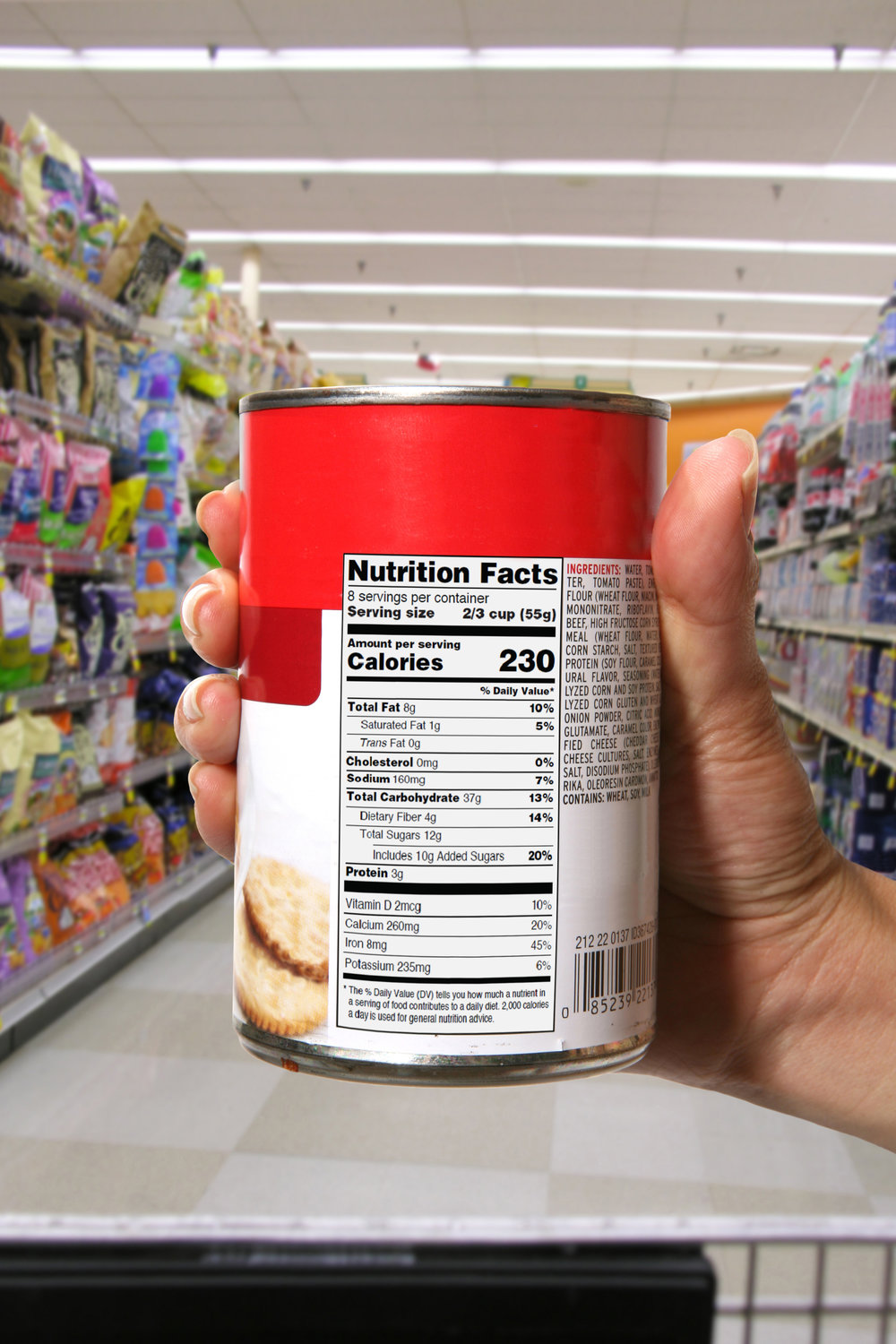 We will develop a formatted Nutrition Facts Panel that is ready for placement on the product.