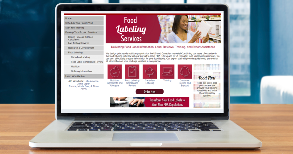 Our redesigned website is another source of information for labeling services.