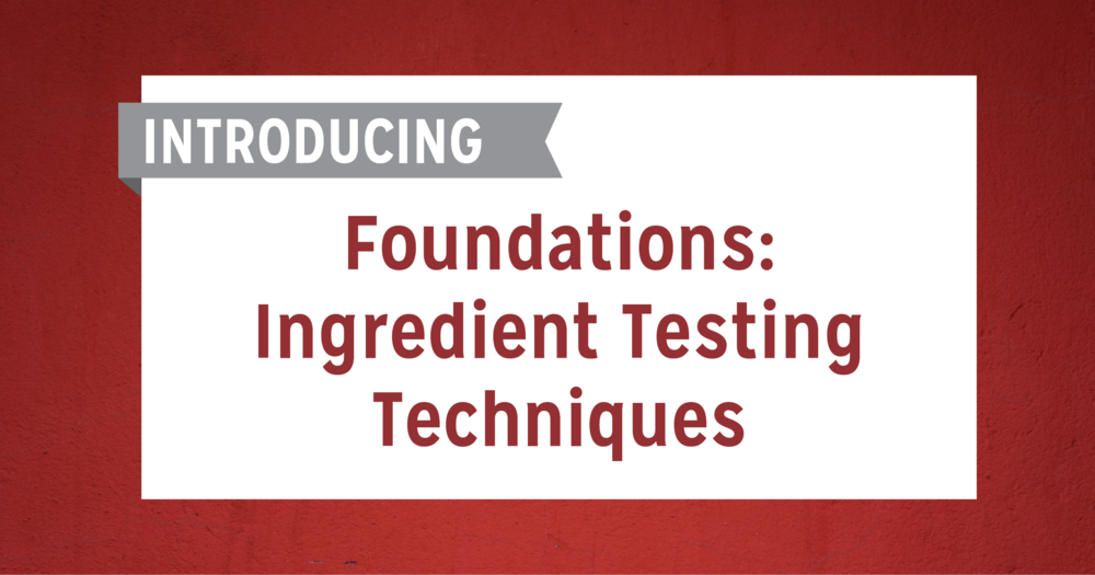 Bring clarity to your ingredient testing methods and enhance product quality. Sign up today! http://tiny.cc/dorxiy