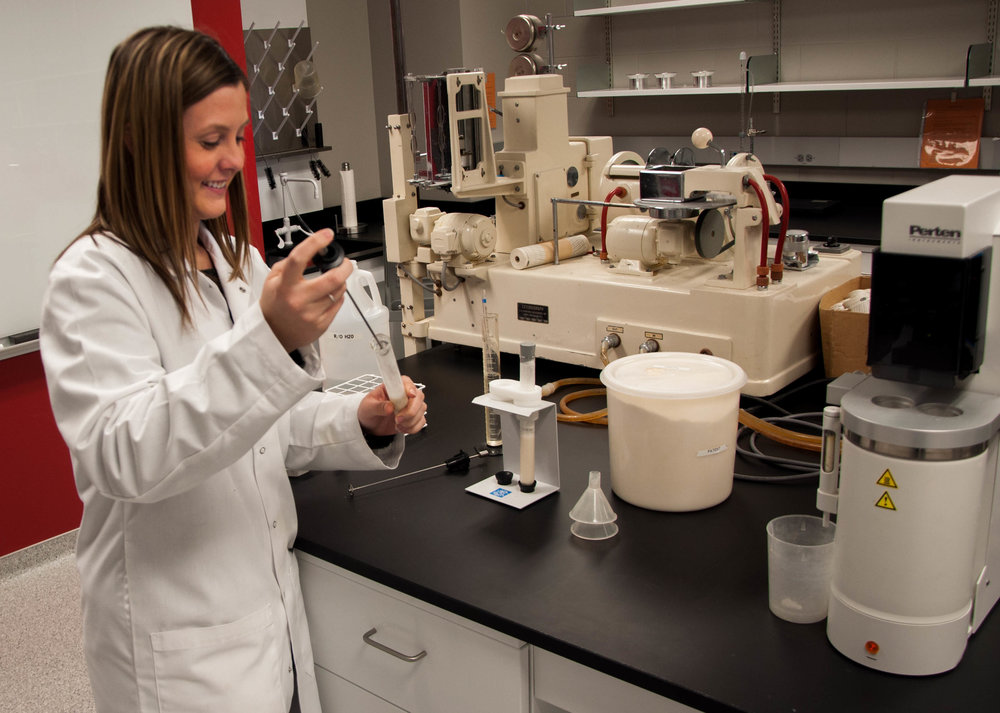 A sample is being prepared for alpha-amylase testing.
