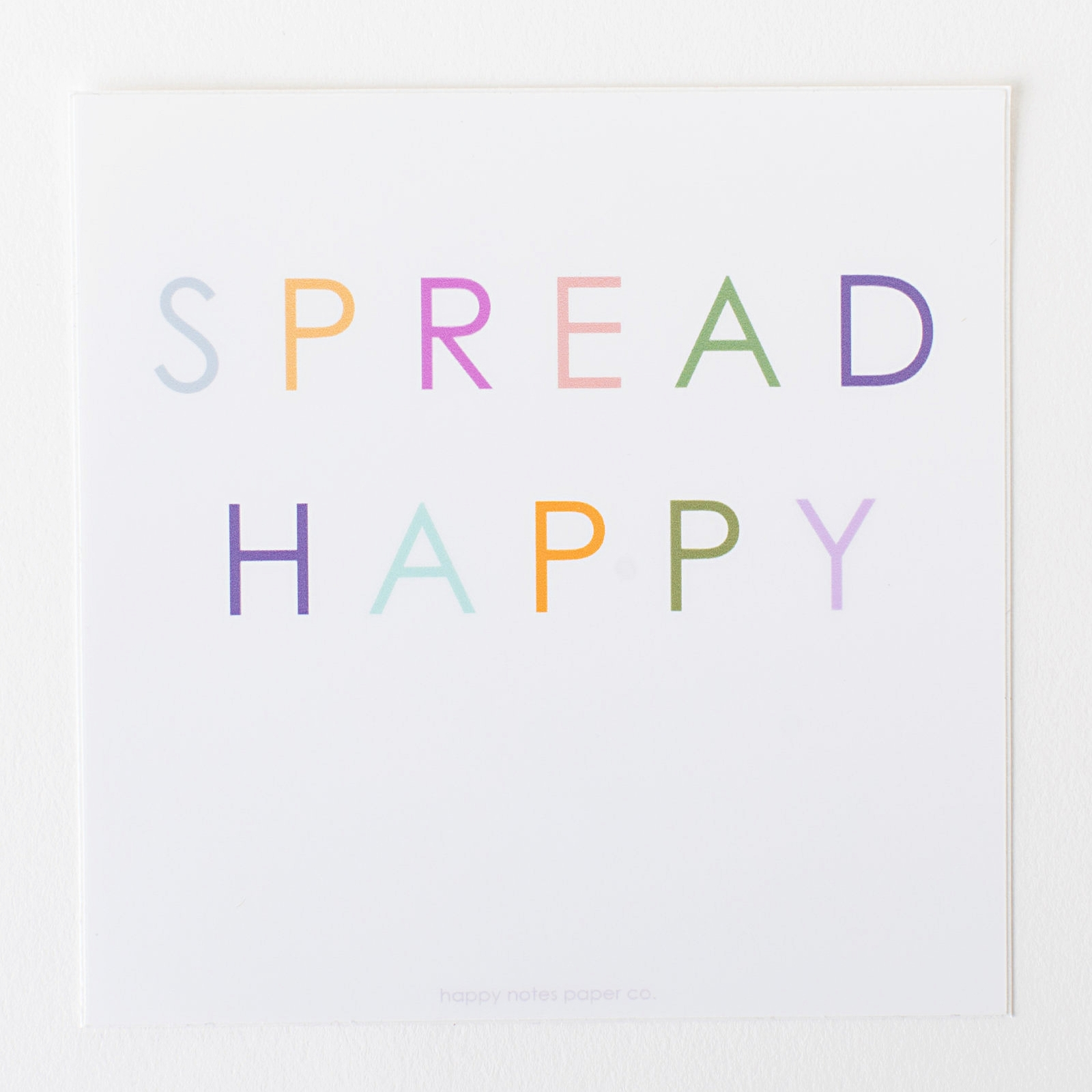 Spread happy sticker