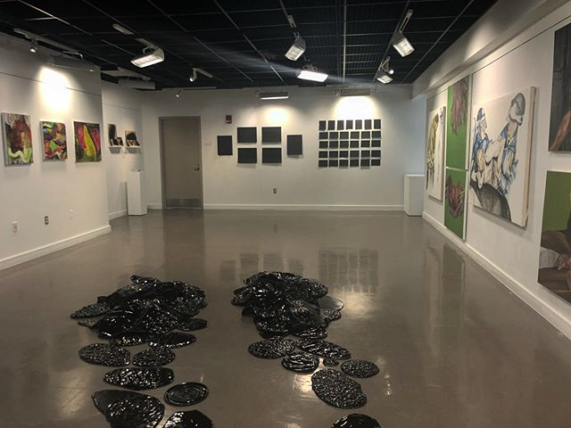 Senior Thesis Exhibition, Part II is now on view in the Mazmanian Gallery, please join us for a special reception on Tuesday, May 1st from 4:30-6:30pm. This exhibition features the following artists shown in order: Kristen Fisher (floor), Teres Audette, Rohma Shirwani, Sadie Harmon, and Kari Long.