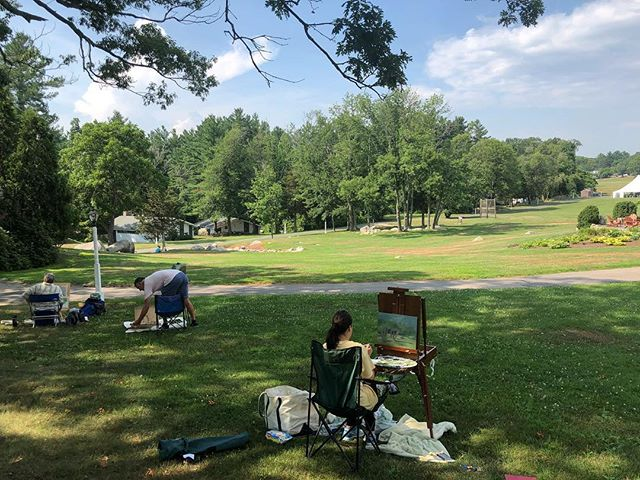 Landscape Painting course (perfect for summer) on location at the Warren Center