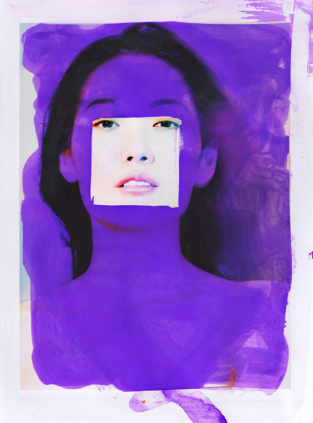 Violet Wednesday  Square in purple are model Carrie Linli (mademoiselle agency) + makeup artist  Cyril Nesmon.