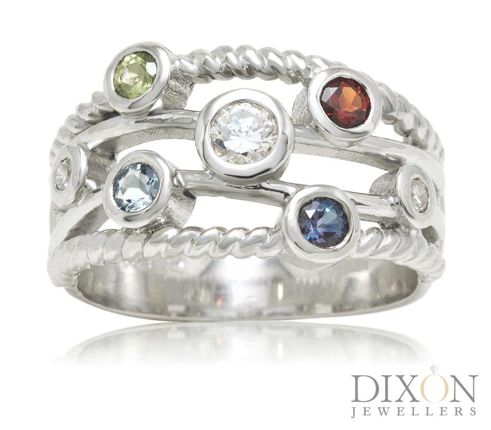 Custom 7-Stone Family Ring