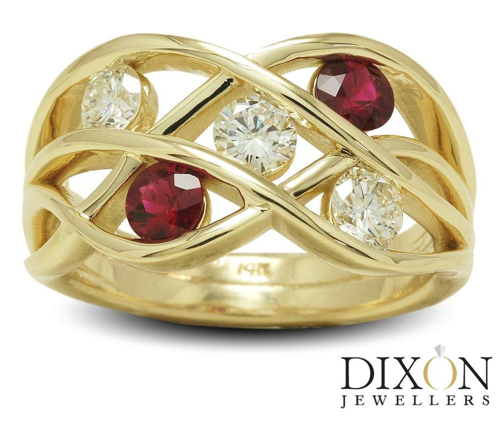 Custom Ruby & Diamond Ring