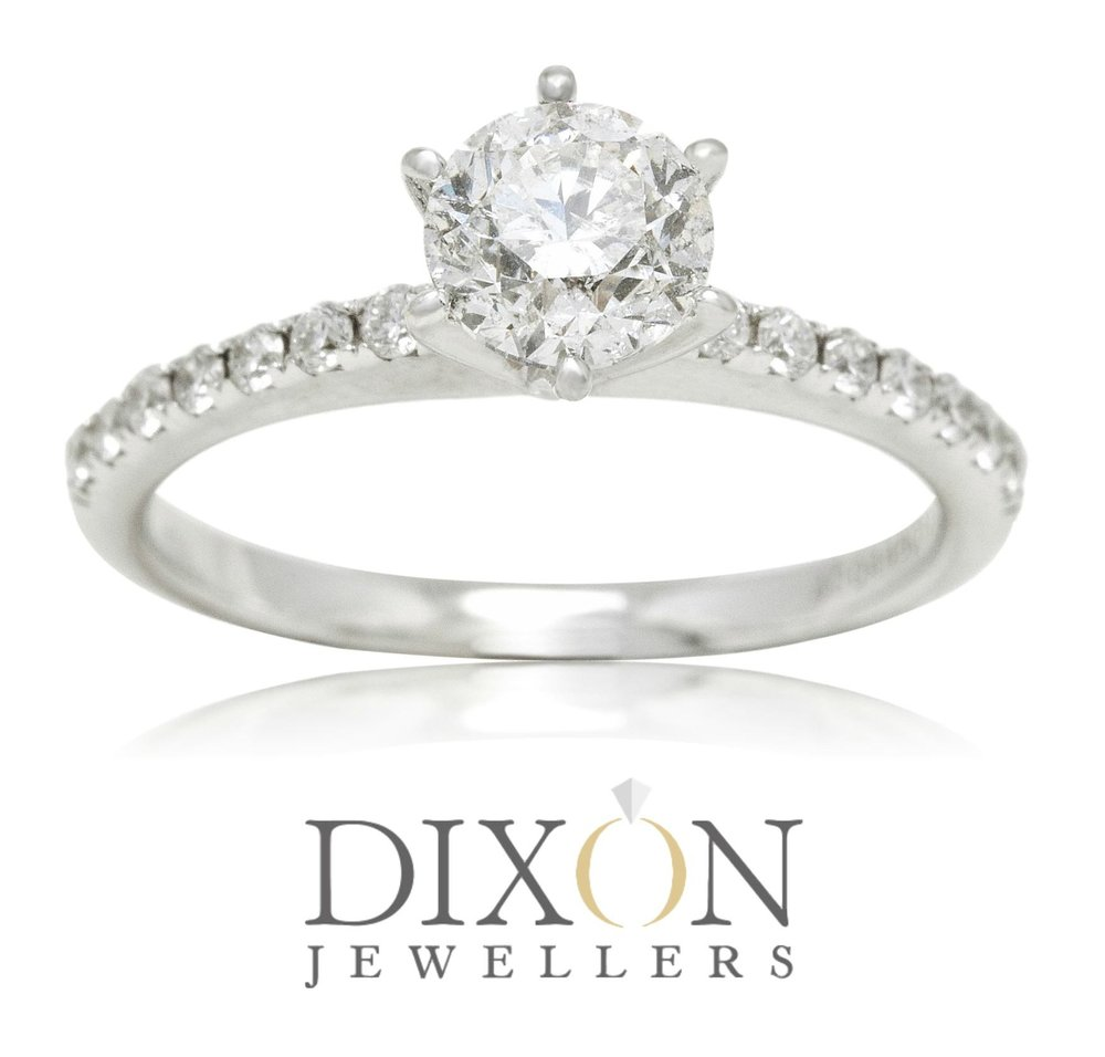 Custom Six-Claw Diamond Engagement Ring with Thin Diamond Band