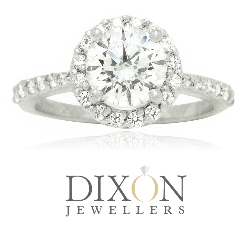 Custom Round Diamond Halo Engagement Ring