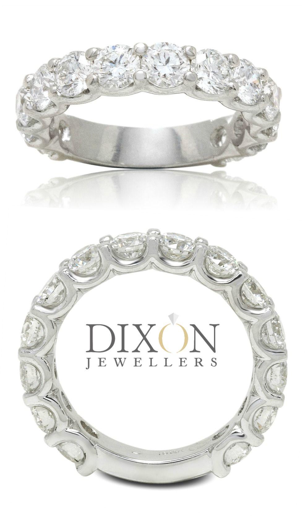 Custom Diamond 3/4 Eternity Ring